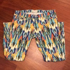Current/Elliott Multi Color Print Pant